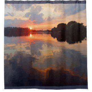 Beautiful Lake View Landscape Scenery Art