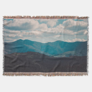 Beautiful Landscape Nature Mountains Throw Blanket