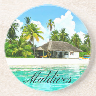 Beautiful Landscape Of Maldives Coaster