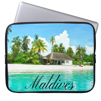 Beautiful Landscape Of Maldives Computer Sleeve