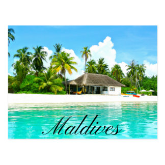 Beautiful Landscape Of Maldives Postcard