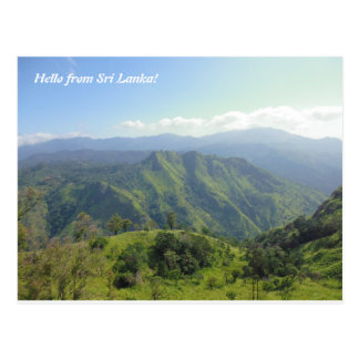 Beautiful landscape of Sri Lanka mountains Postcard