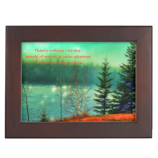 Beautiful Landscape with quote Keepsake Box