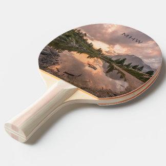 Beautiful Landscapes custom monogram paddle Ping-Pong Paddle