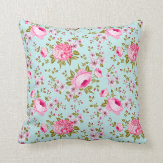 Beautiful Lavender And Pink Floral Pattern Throw Pillow