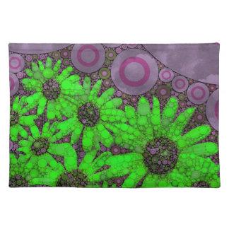 Beautiful Lavender Florescent Sunflowers Place Mat