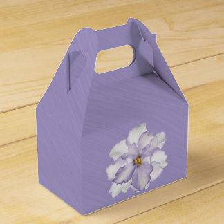 Beautiful Lavender Orchid Favor Box
