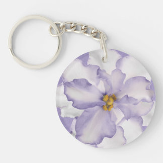Beautiful Lavender Orchid Keychain