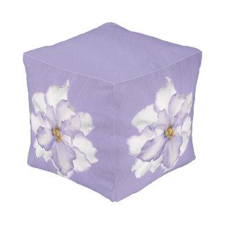 Beautiful Lavender Orchid Pouf