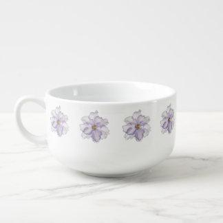 Beautiful Lavender Orchid Soup Mug