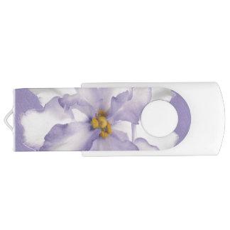 Beautiful Lavender Orchid Swivel USB 2.0 Flash Drive