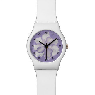 Beautiful Lavender Orchid w/ Roman Numerals Watch