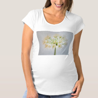 Beautiful Leek Flower Painting Maternity T-Shirt