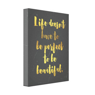 Beautiful Life Quote Canvas Print