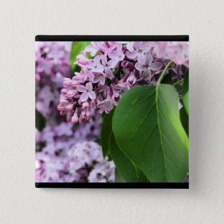 Beautiful Lilac 2 Inch Square Button
