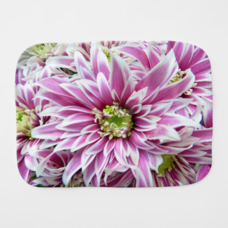 Beautiful Lilac and White Flower Burp Cloths