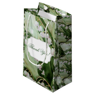 BEAUTIFUL LILY OF THE VALLEY  MONOGRAMMED SMALL GIFT BAG