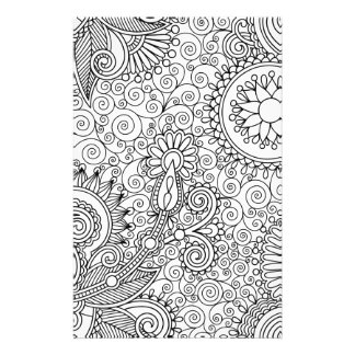 Beautiful Line Art Stationery