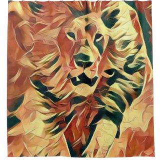 Beautiful Lion Art Shower Curtain