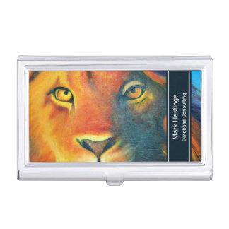 Beautiful Lion Head Portrait Regal and Proud Business Card Case