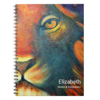 Beautiful Lion Head Portrait Regal and Proud Spiral Note Books