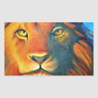 Beautiful Lion Head Portrait Regal and Proud Sticker