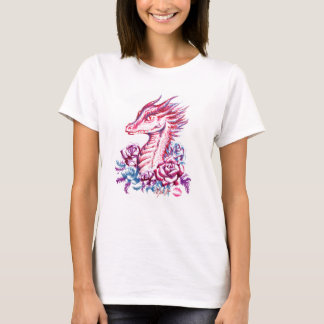 Beautiful Lipstick Dragon Art Women's T-shirt
