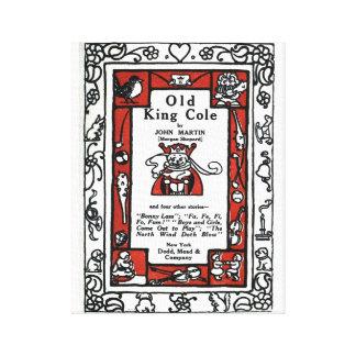Beautiful literary illustration Old King Cole 1911 Canvas Print