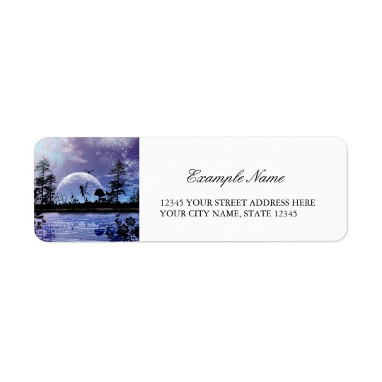 Beautiful little fairy return address label