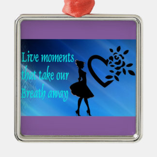 Beautiful 'Live Moments' Square Ornament