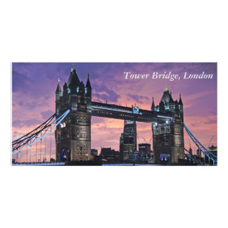 Beautiful London England Tower Bridge at Night Photo Print