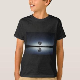 Beautiful Lone Tree Reflected in Lake at Night T-Shirt