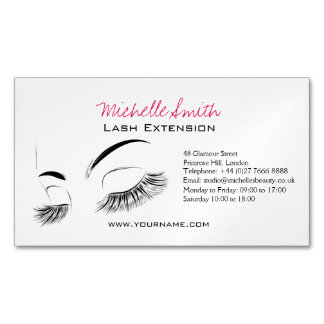 Beautiful long eyelashes Lash Extension Magnetic Business Card