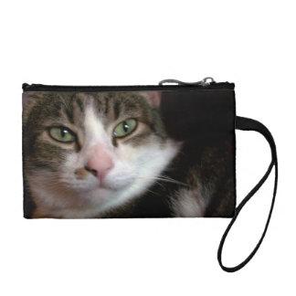 Beautiful long haired cat change purse