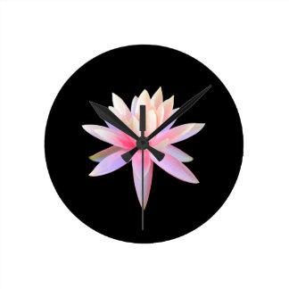Beautiful Lotus Art Round Clock