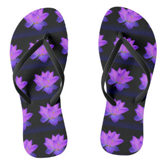 Beautiful Lotus Flip Flops