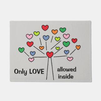 Beautiful LOVE Hearts Tree Doormat