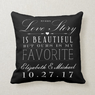 Beautiful Love Story Wedding Keepsake Pillow