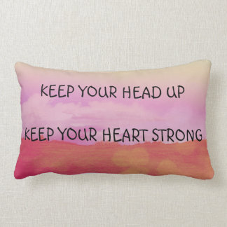 Beautiful lumbar pillow with motivational text