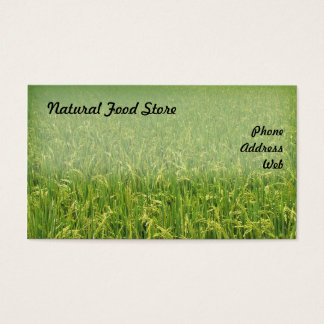 Beautiful Lush Green Rice Field Business Card