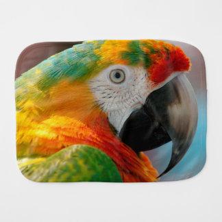 Beautiful Macaw Burp Cloth