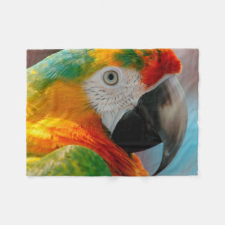 Beautiful Macaw Fleece Blanket