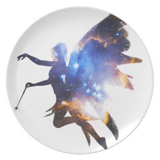 Beautiful Magical Space Fairy Plate