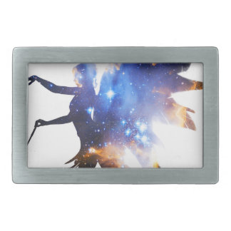 Beautiful Magical Space Fairy Rectangular Belt Buckles