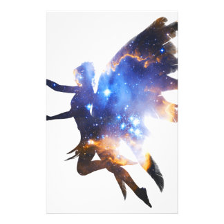 Beautiful Magical Space Fairy Stationery Paper