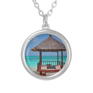Beautiful Maldives Islands Silver Plated Necklace