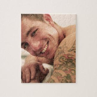 Beautiful man jigsaw puzzle