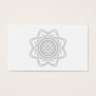 Beautiful mandala desing flower design indian vect business card