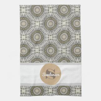 Beautiful Mandala w/Monogram Kitchen Towel