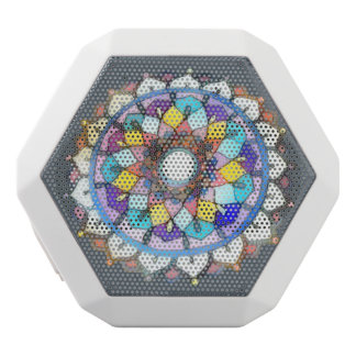 Beautiful Mandala White Bluetooth Speaker